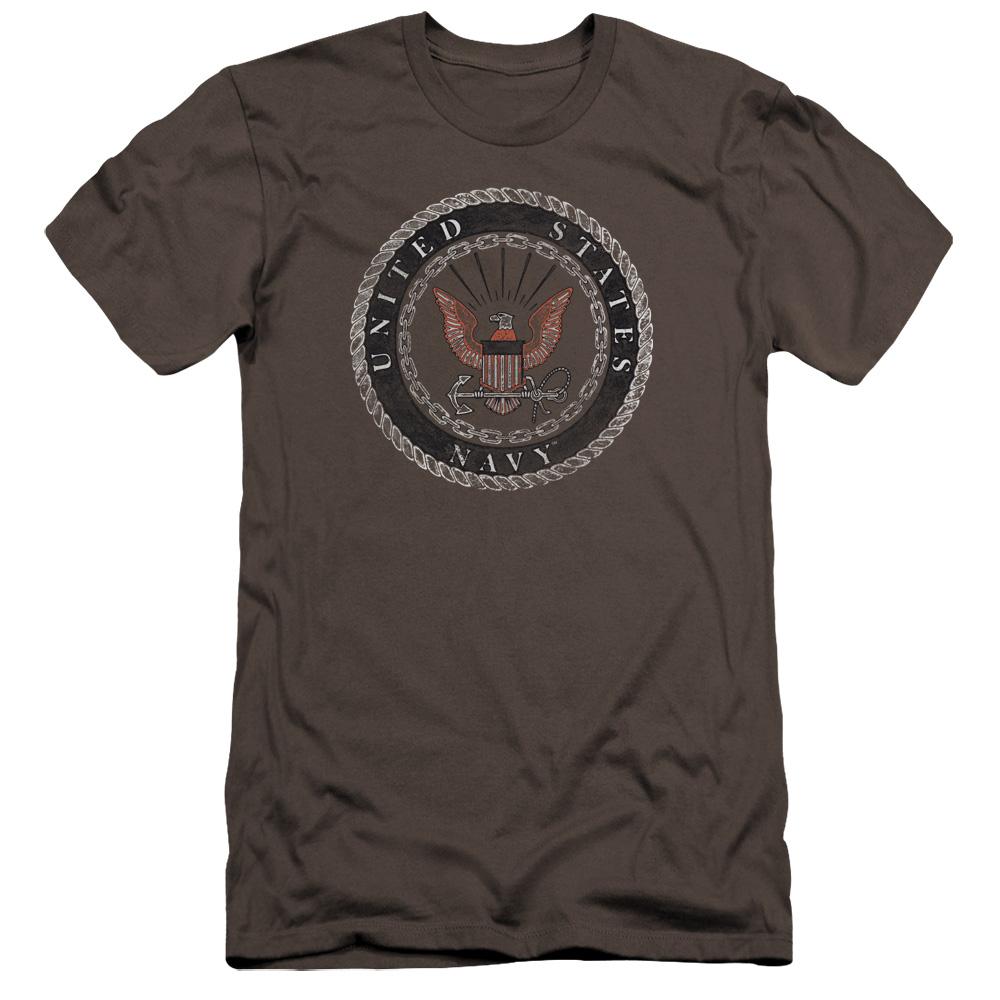 United State U.S. Navy Rough Eagle Emblem Premium Slim Fit T-Shirt