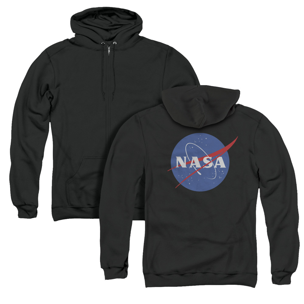 NASA Space Meatball Logo Adult Zip Hoodie