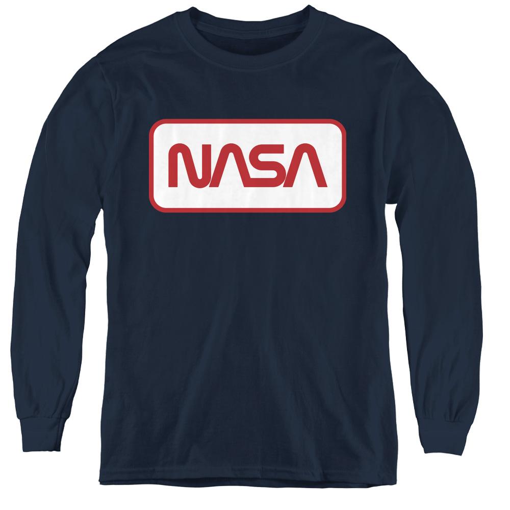 Rectangular NASA Logo Kids Long Sleeve Shirt