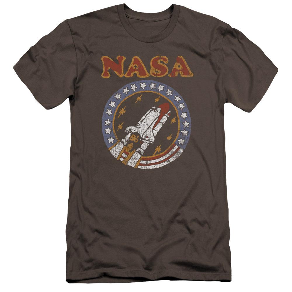 Retro Shuttle NASA Premium Slim Fit T-Shirt