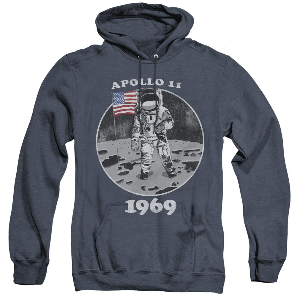 NASA Apollo 11 1969 Not Fake Adult Heather Hoodie