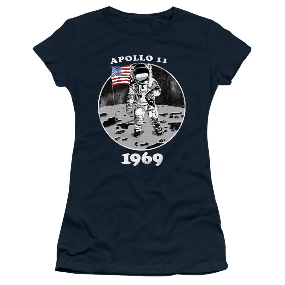 NASA Apollo 11 1969 Not Fake Junior Fit T Shirt