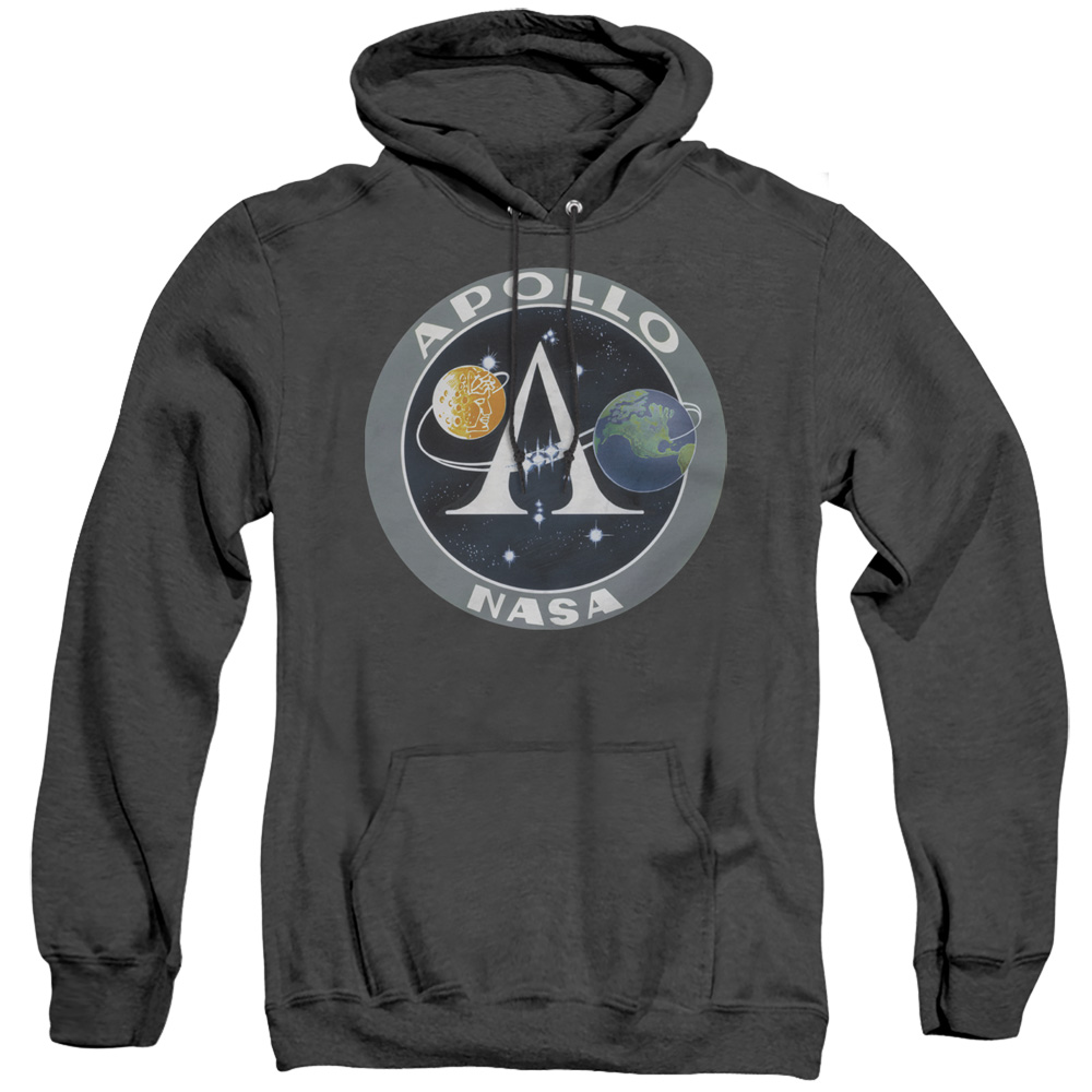 NASA Apollo Mission Patch Adult Heather Hoodie