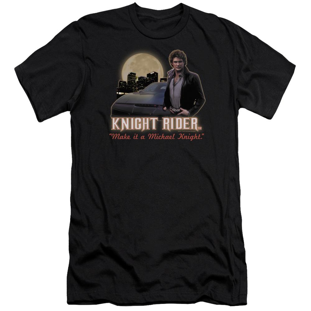 Knight Rider Full Moon Premium Slim Fit T-Shirt