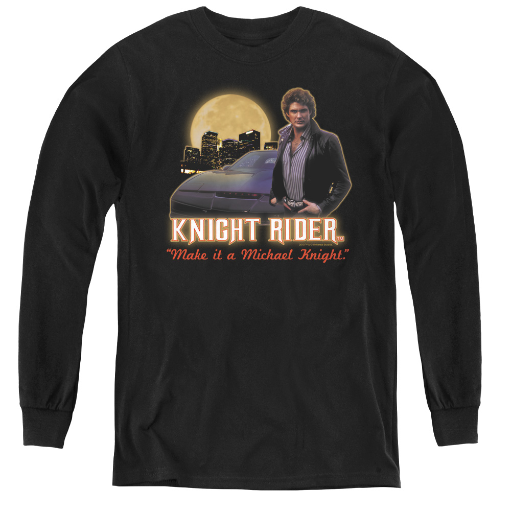 Knight Rider Full Moon Kids Long Sleeve Shirt