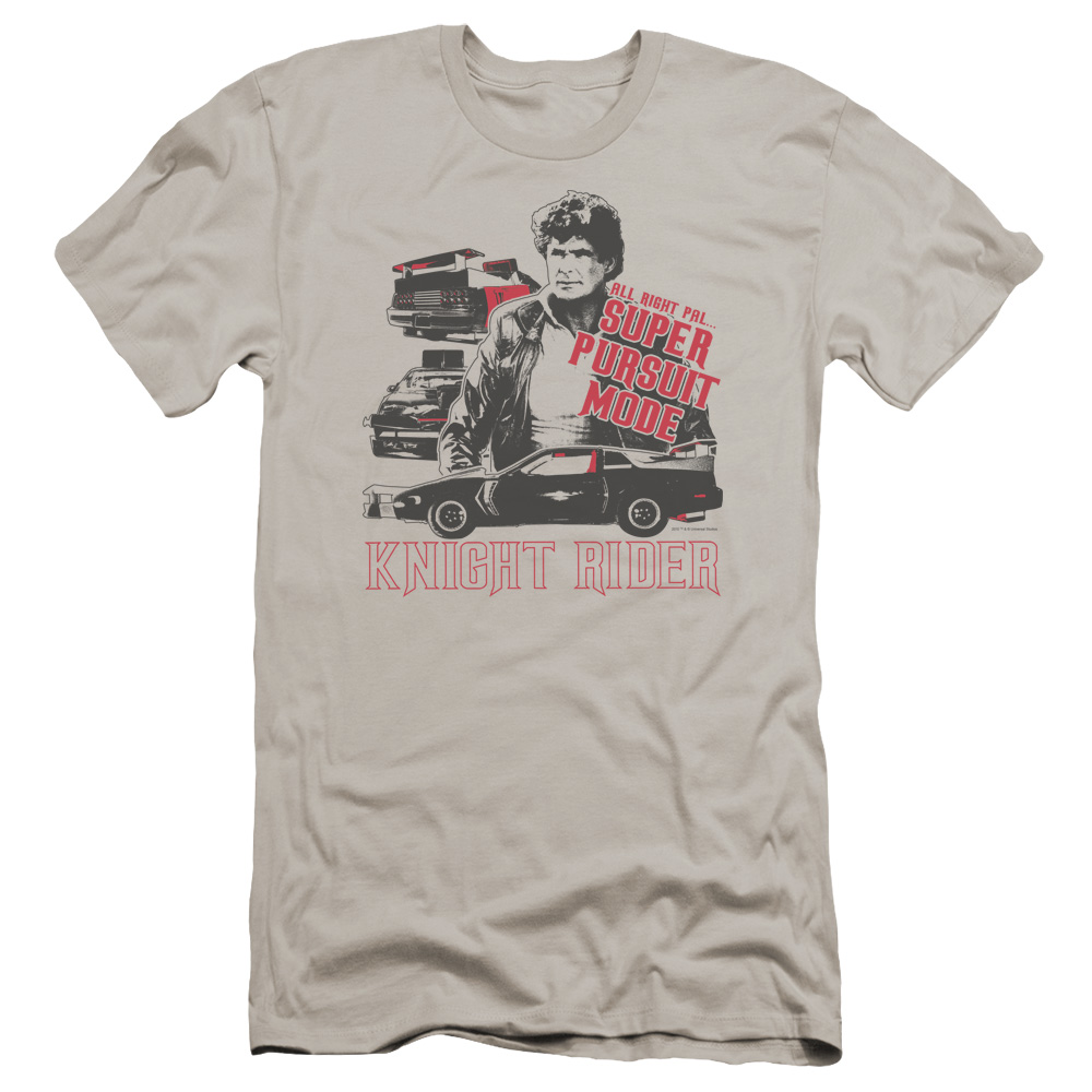 Knight Rider Super Pursuit Mode Premium Slim Fit T-Shirt