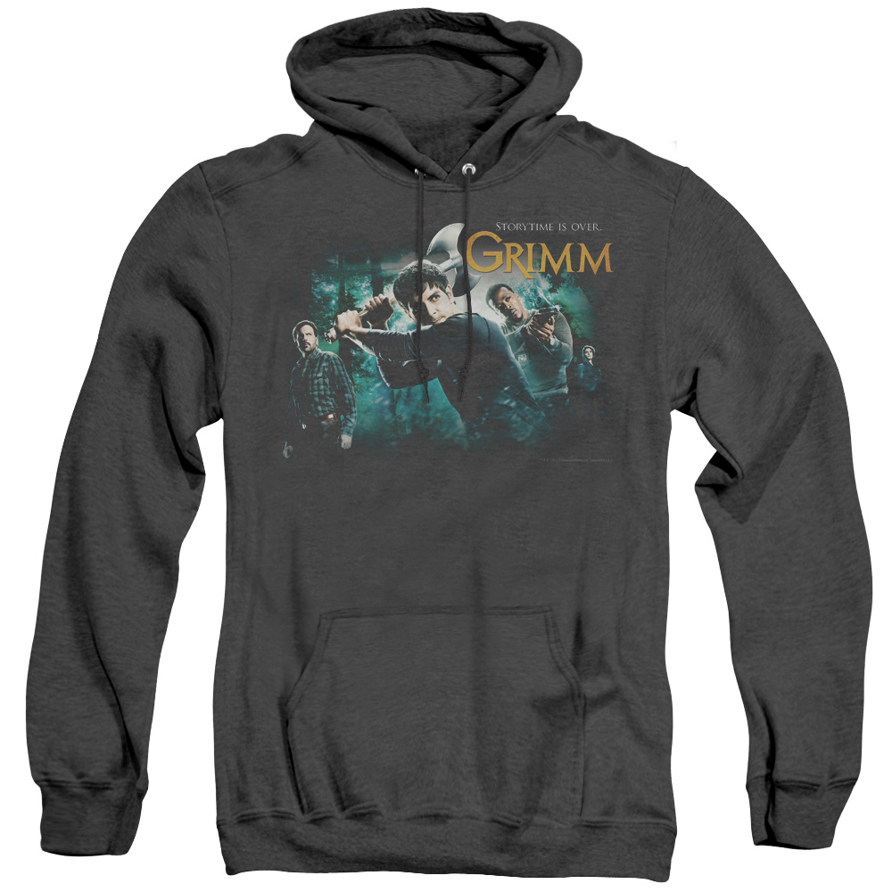 Grimm Storytime Is Over Adult Heather Hoodie