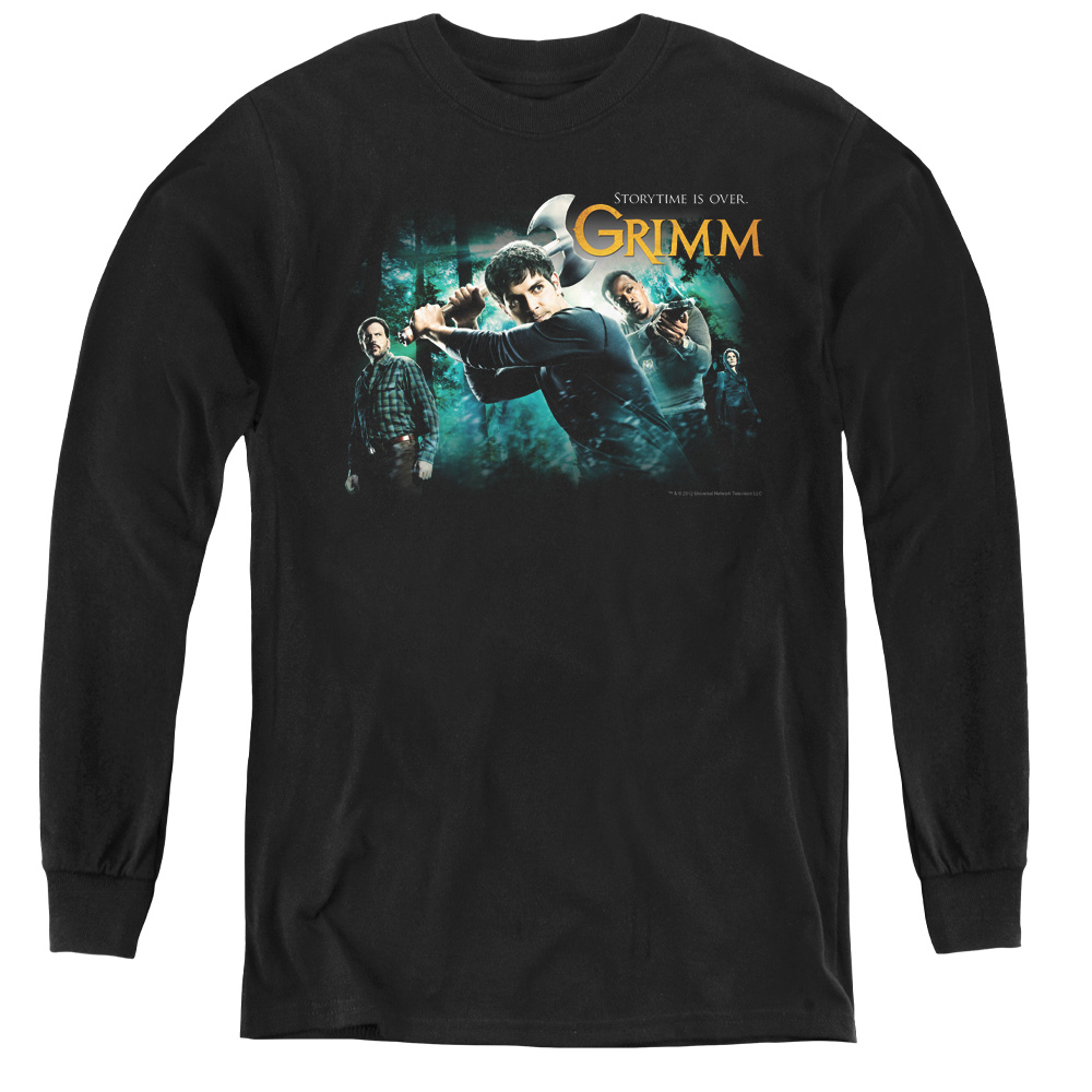 Grimm Storytime Is Over Kids Long Sleeve Shirt