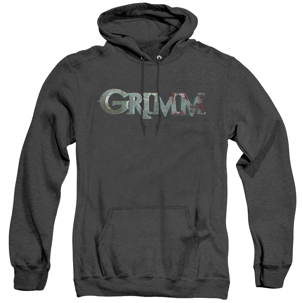 Grimm Bloody Logo Adult Heather Hoodie