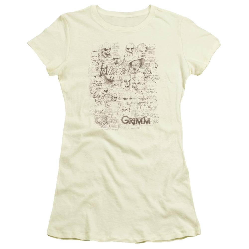 Grimm Wesen Sketches Junior Fit T-Shirt