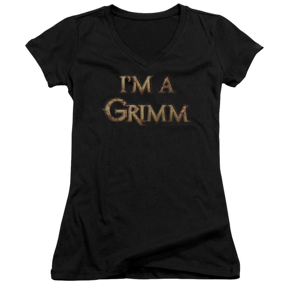 I'm A Grimm Juniors V-Neck T-Shirt