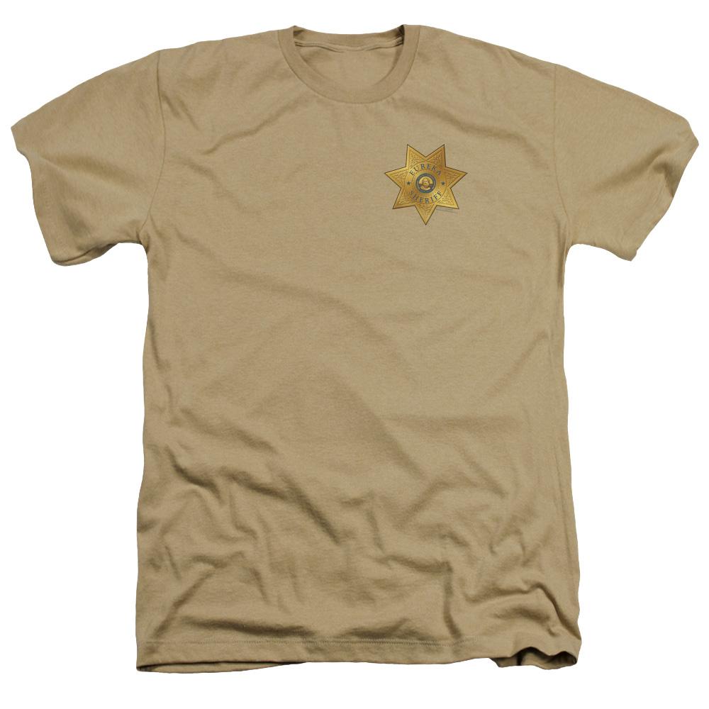 Eureka Badge On Pocket Heather T-Shirt