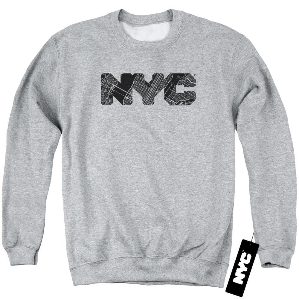 New York City - Map Fill Sweatshirt