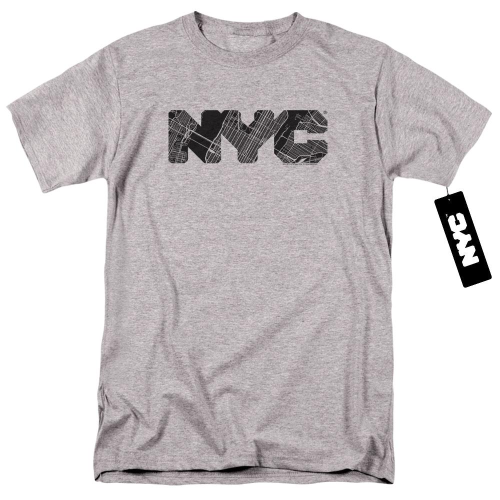 New York City - Map Fill T-Shirt