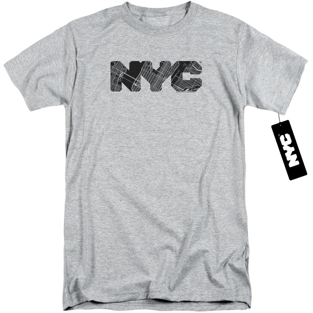 New York City - Map Fill Tall T-Shirt