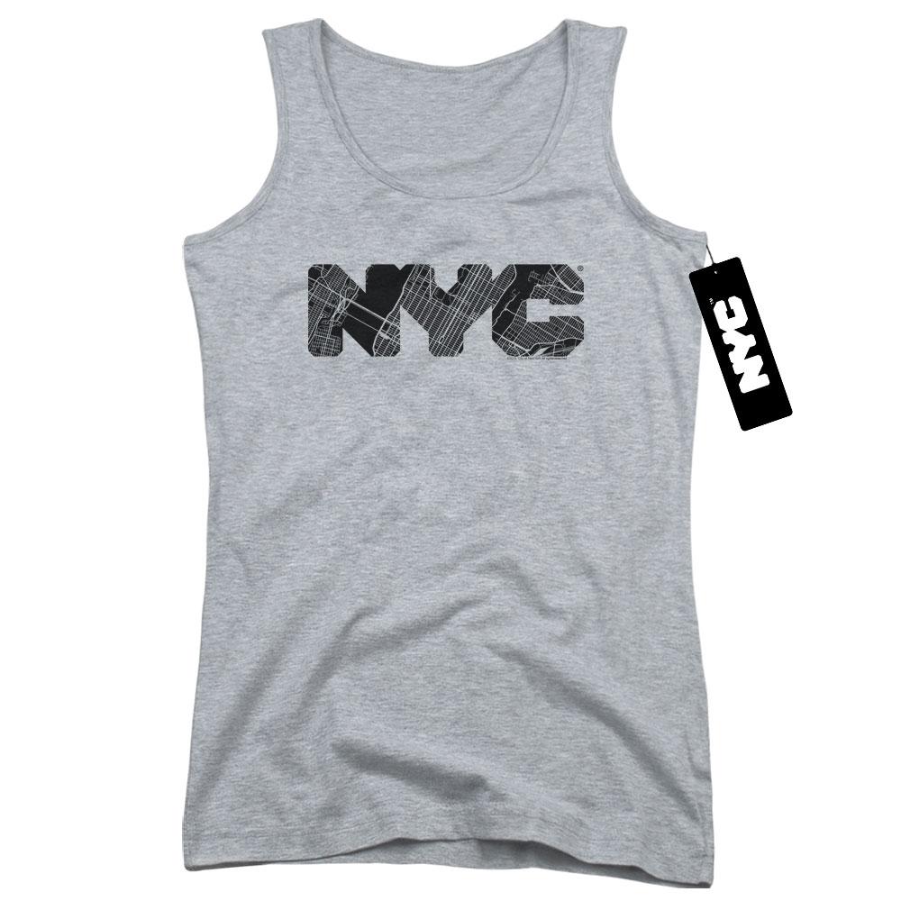 New York City - Map Fill Juniors Tank Top