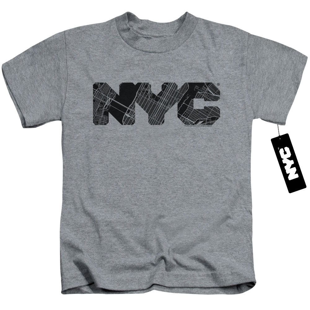New York City - Map Fill Juvy T-Shirt