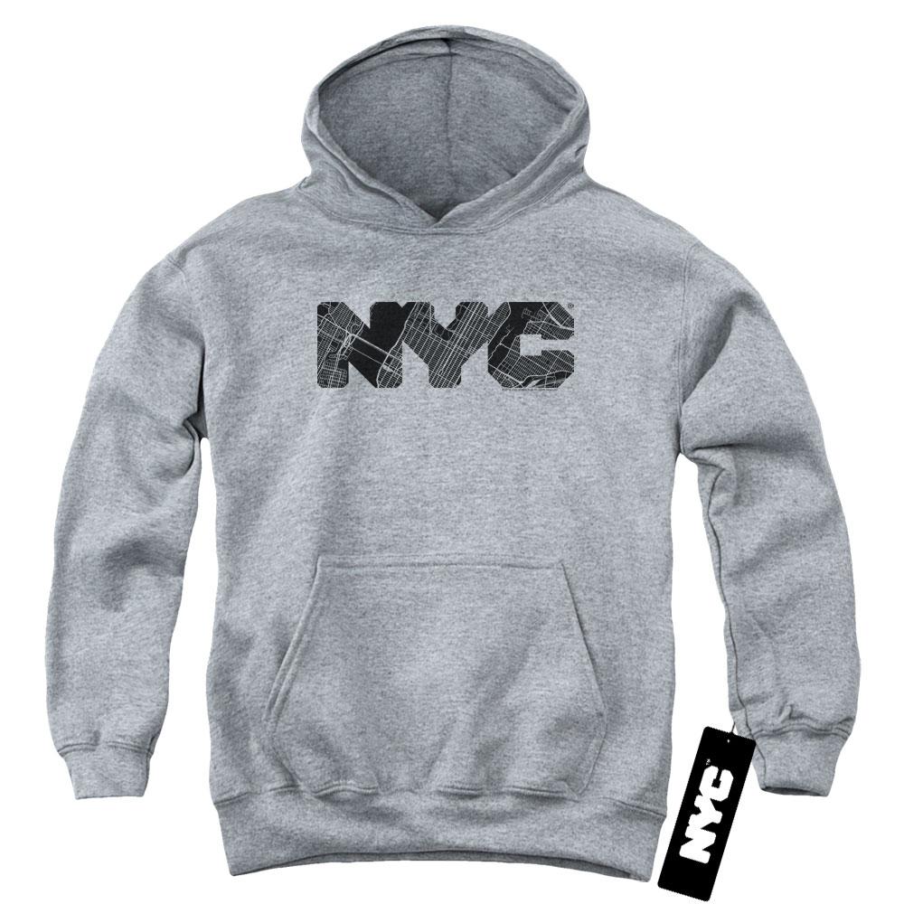New York City - Map Fill Kids Hoodie