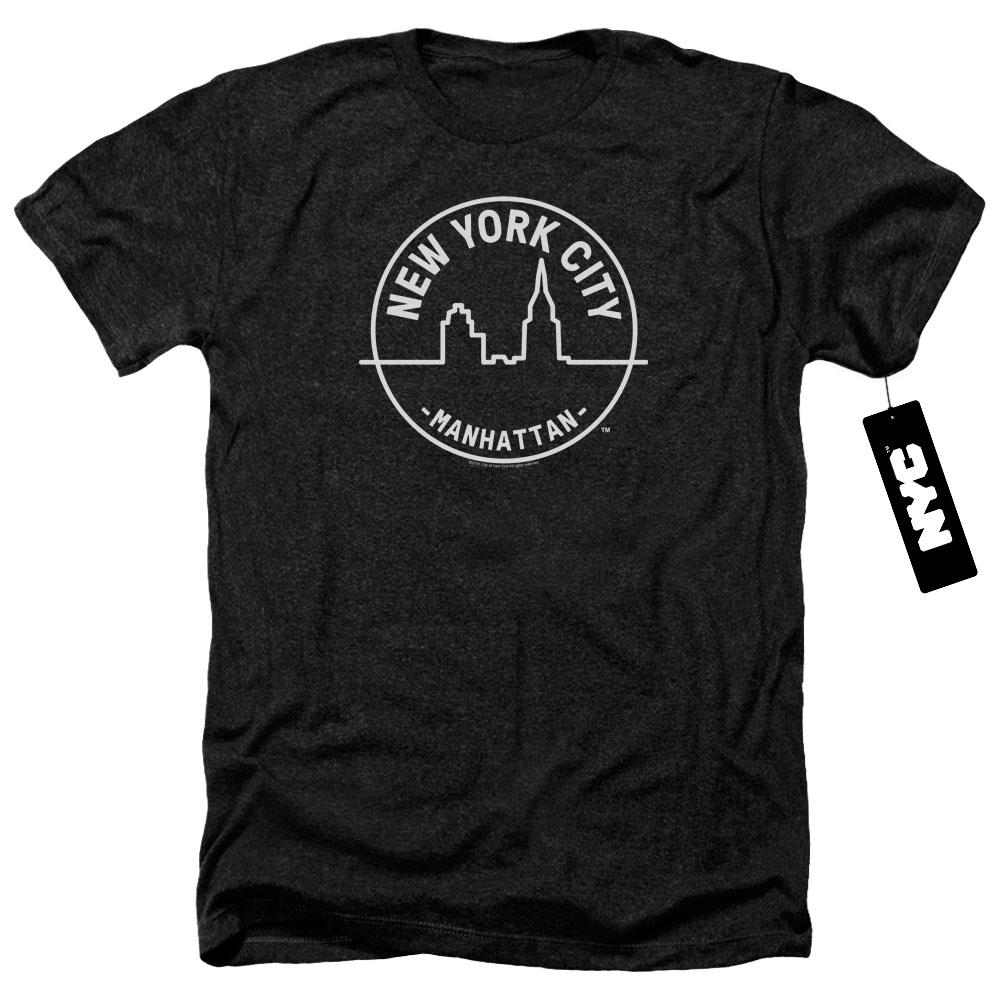 Manhattan NYC New York Heather T-Shirt