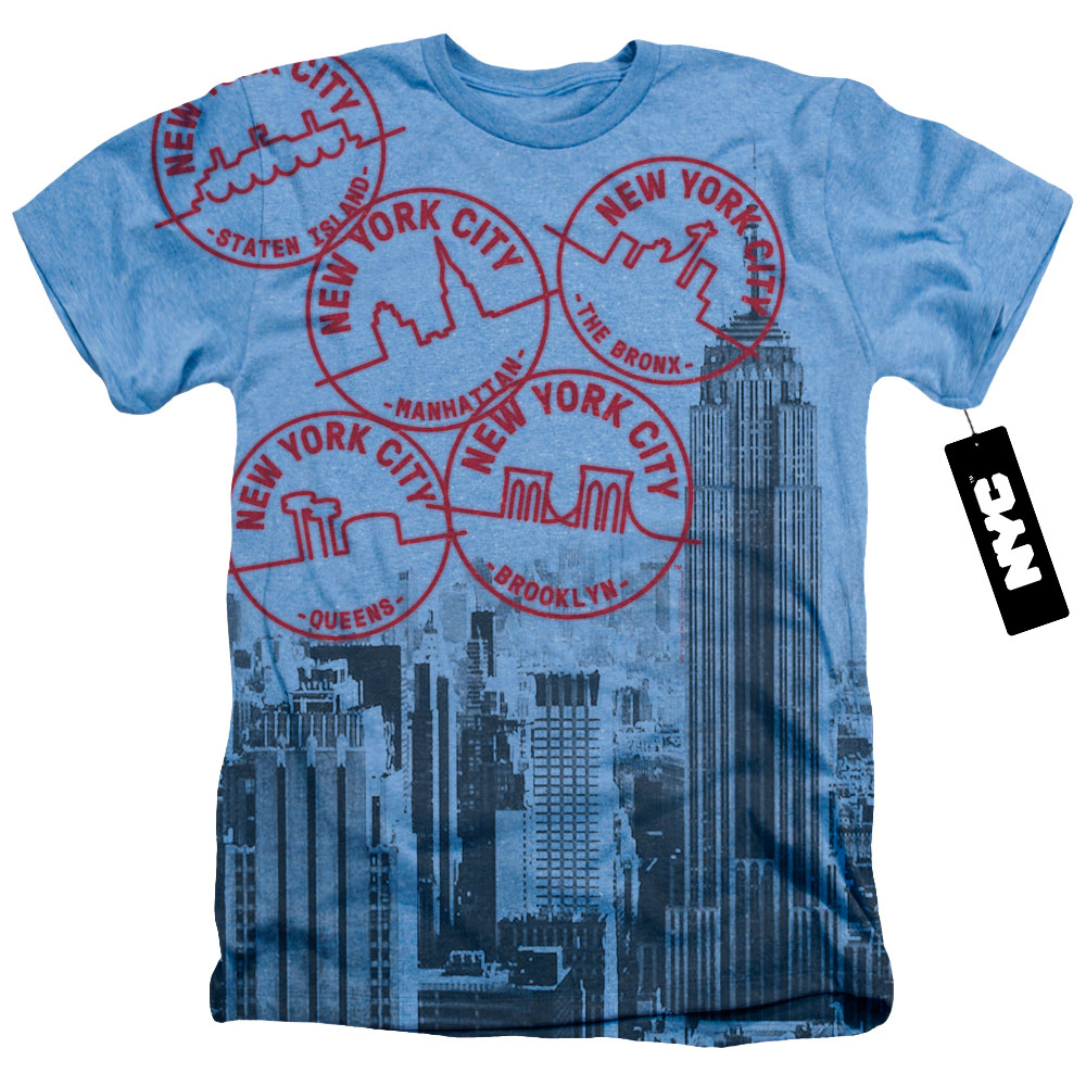 Passport To New York City Heather T-Shirt