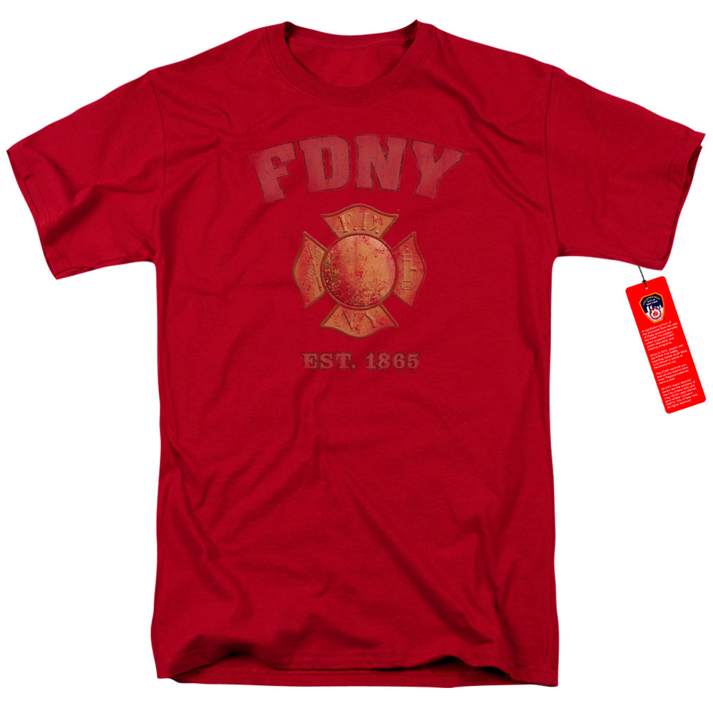 New York City Fire Department Vintage Badge T-Shirt