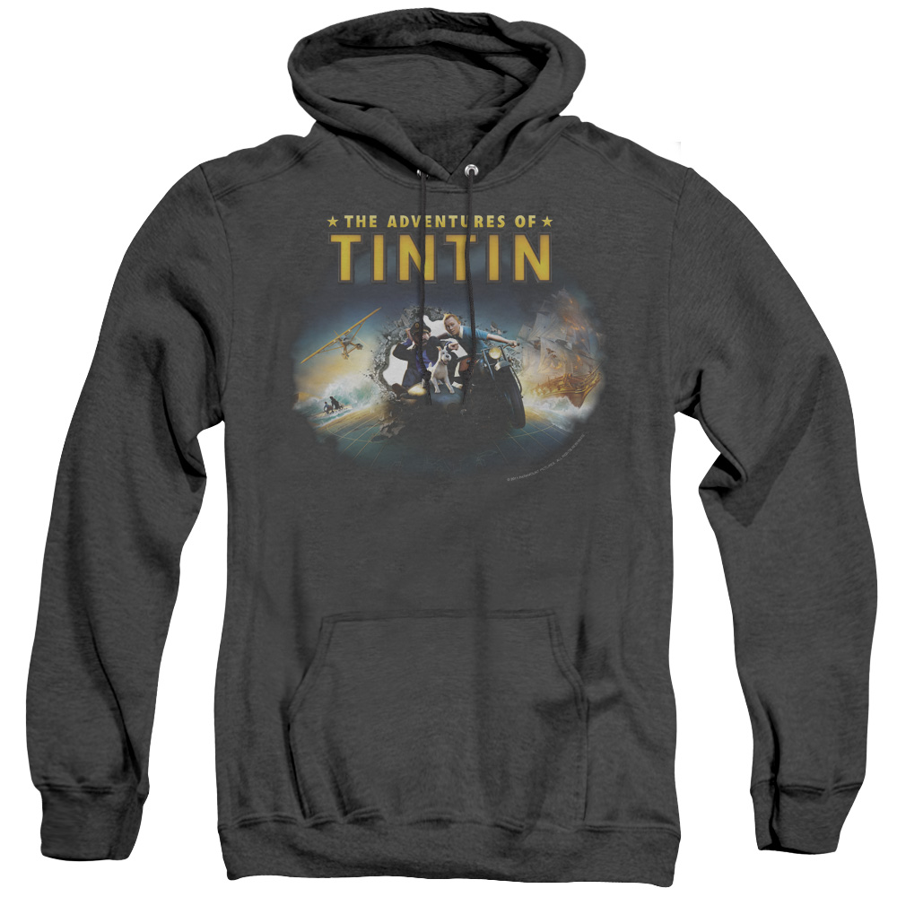 Journey The Adventures Of Tintin Adult Heather Hoodie