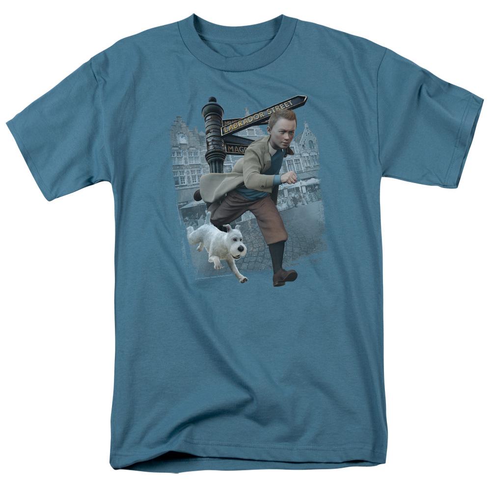 Labrador Street The Adventures Of Tintin T-Shirt
