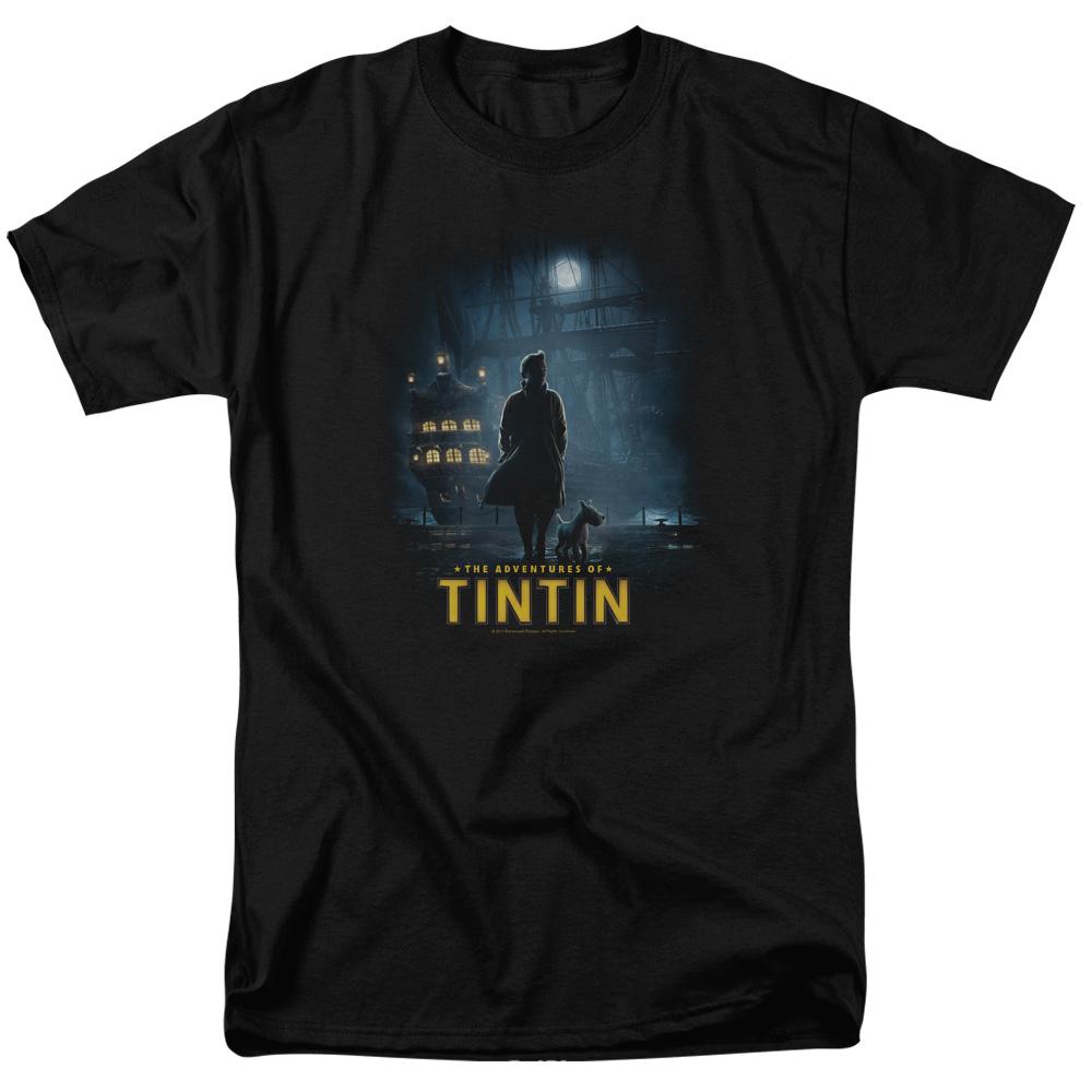 Dark Night The Adventures Of Tintin T-Shirt