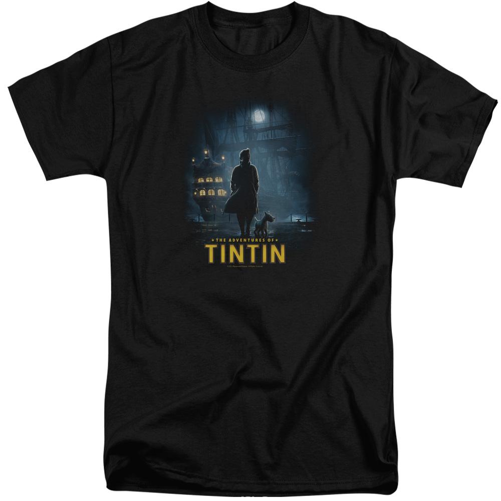 Dark Night The Adventures Of Tintin Tall T-Shirt