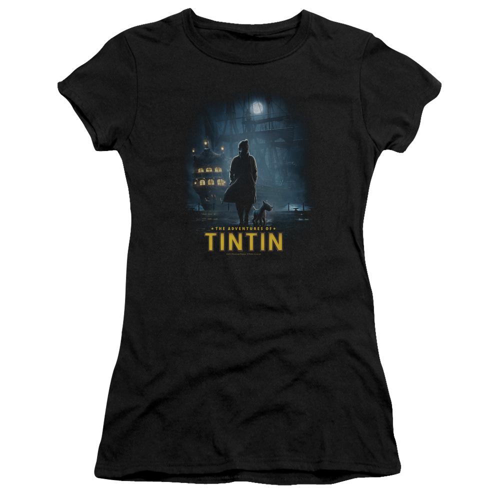 Dark Night The Adventures Of Tintin Junior Fit T Shirt