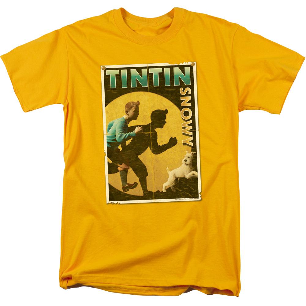 Tintin & Snowy Flier The Adventures Of Tintin T-Shirt