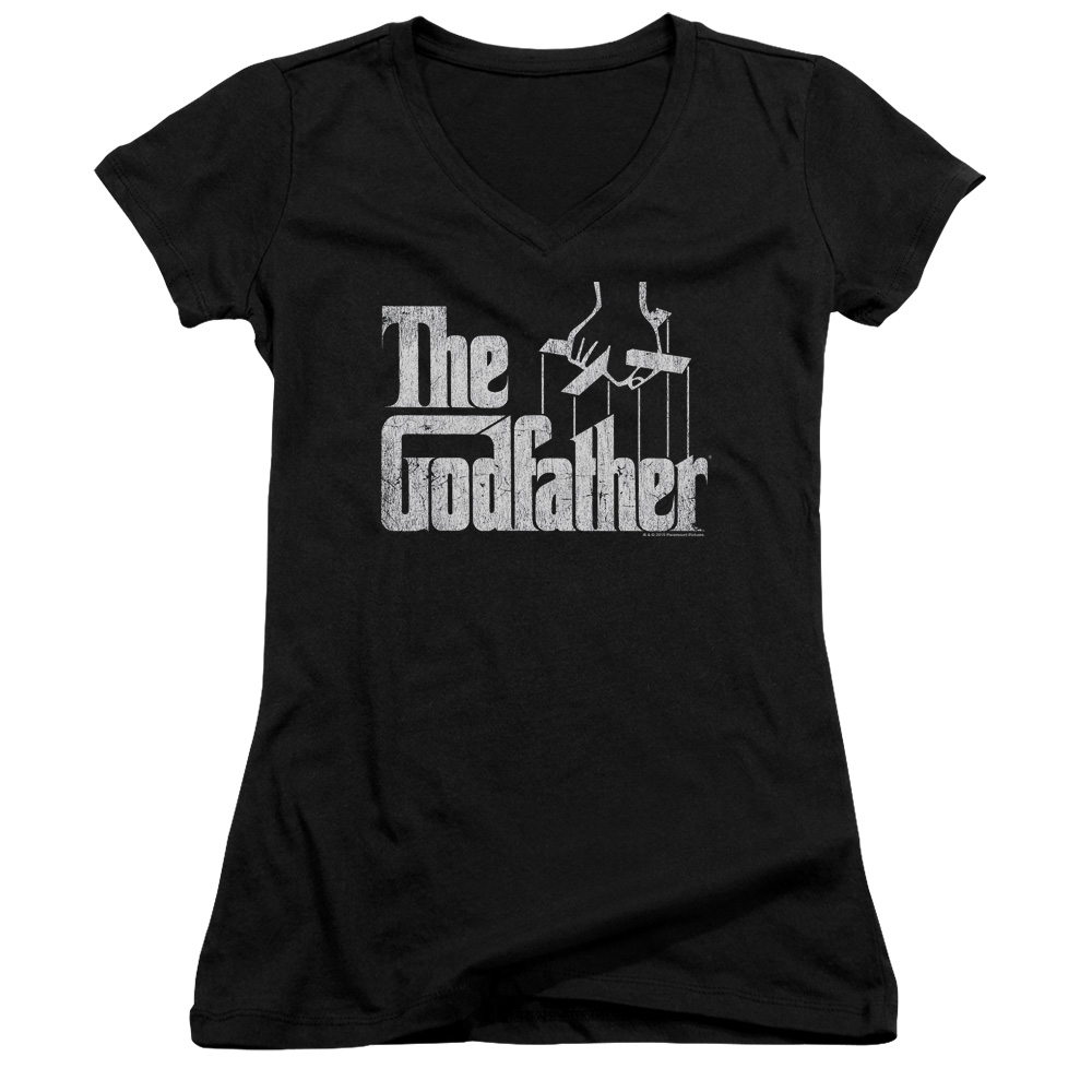 The Godfather Logo Juniors V-Neck T-Shirt
