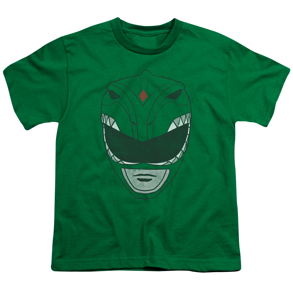 Power Rangers Green Ranger Mask Kids T-Shirt
