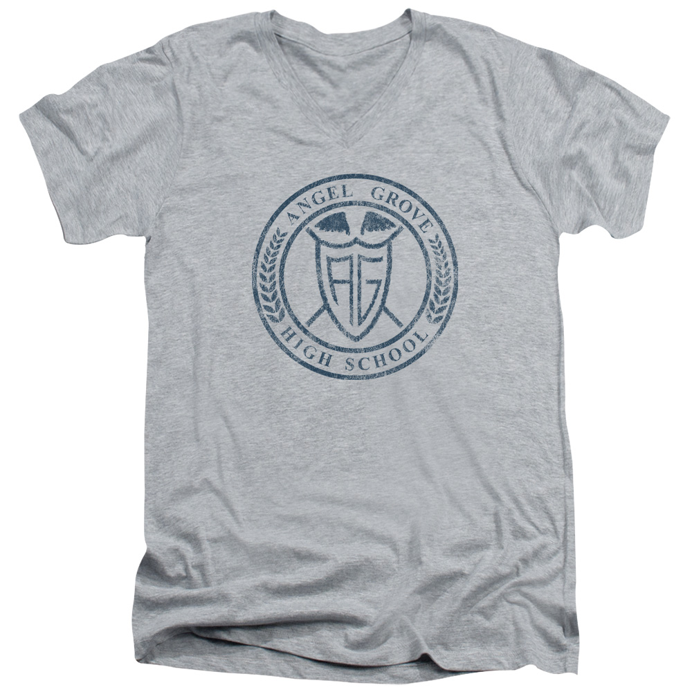 Power Rangers Angel Grove Hight School  V-Neck T-Shirt