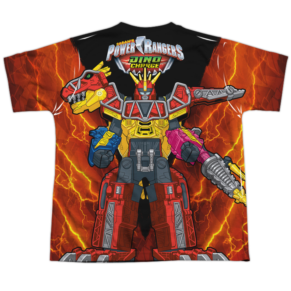 Power Ranger Dino Charge Zord Allover Sublimation Youth Kids T-Shirt