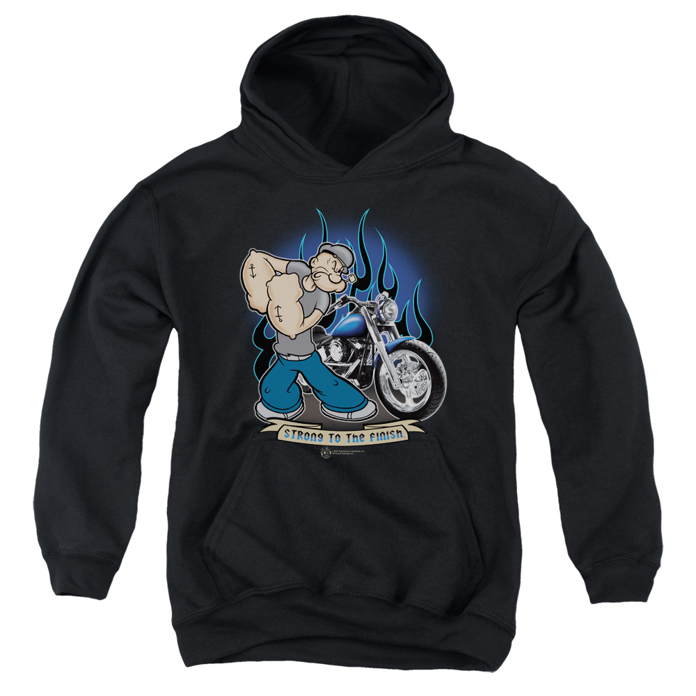 Popeye Biker Kids Hoodie