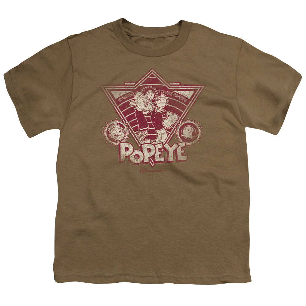 Popeye Strong To The Finish Retro Kids T-Shirt