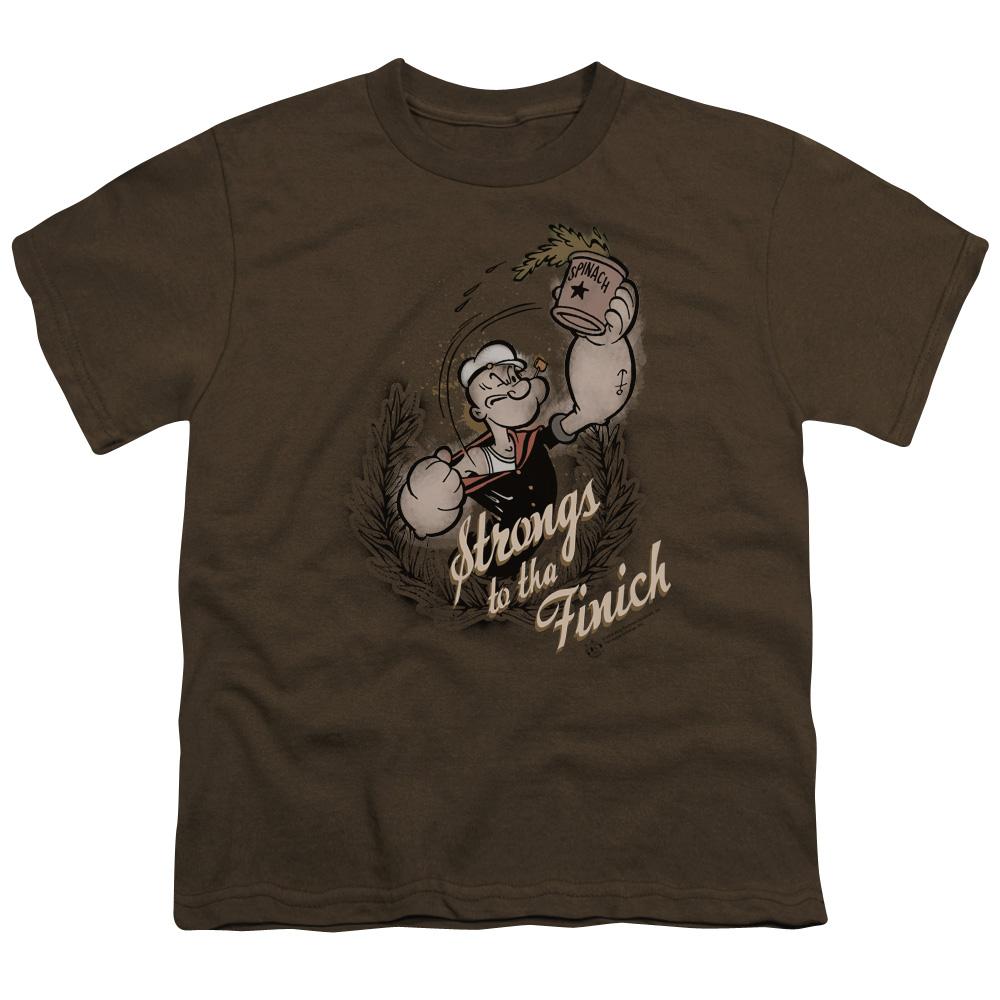 Popeye Strong To Tha Finish Kids T-Shirt