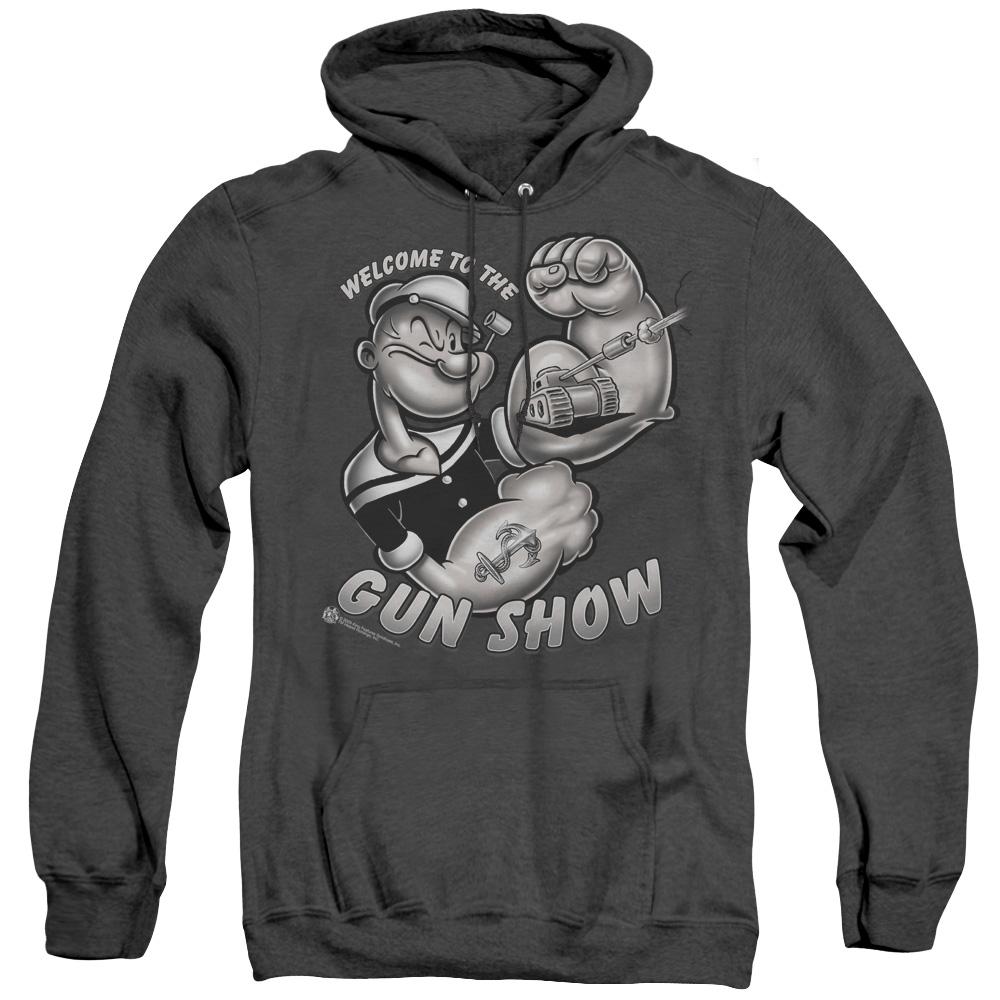 Popeye Gun Show Adult Heather Hoodie