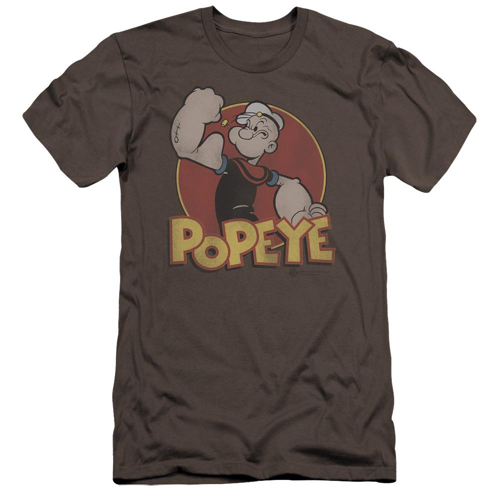 Popeye Retro Ring Premium Slim Fit T-Shirt
