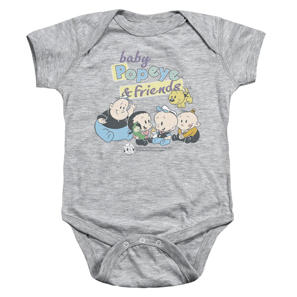 Baby Popeye And Friends Baby Bodysuit