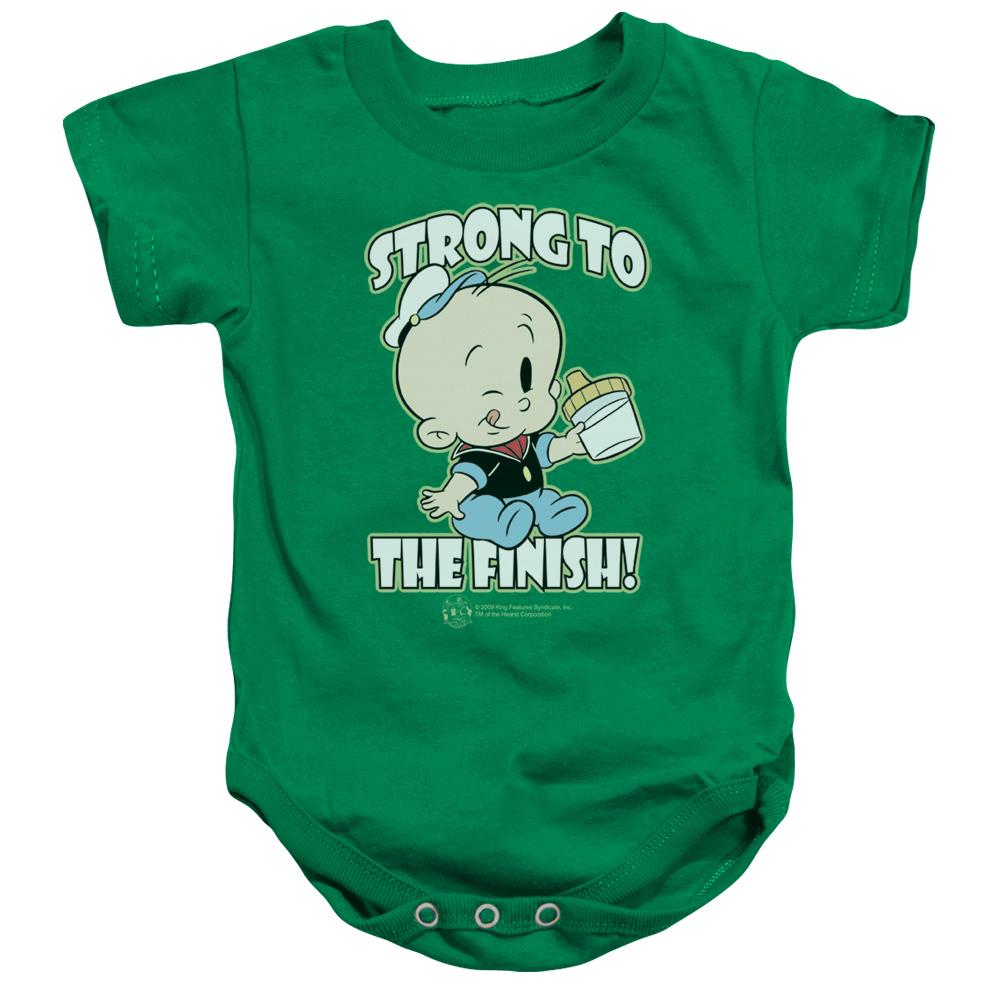 Popeye String To The Finish Baby Bodysuit