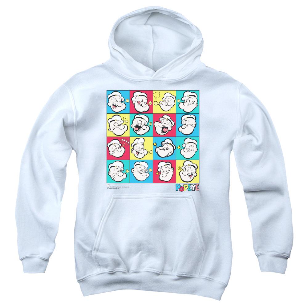 Popeye Color Block Kids Hoodie