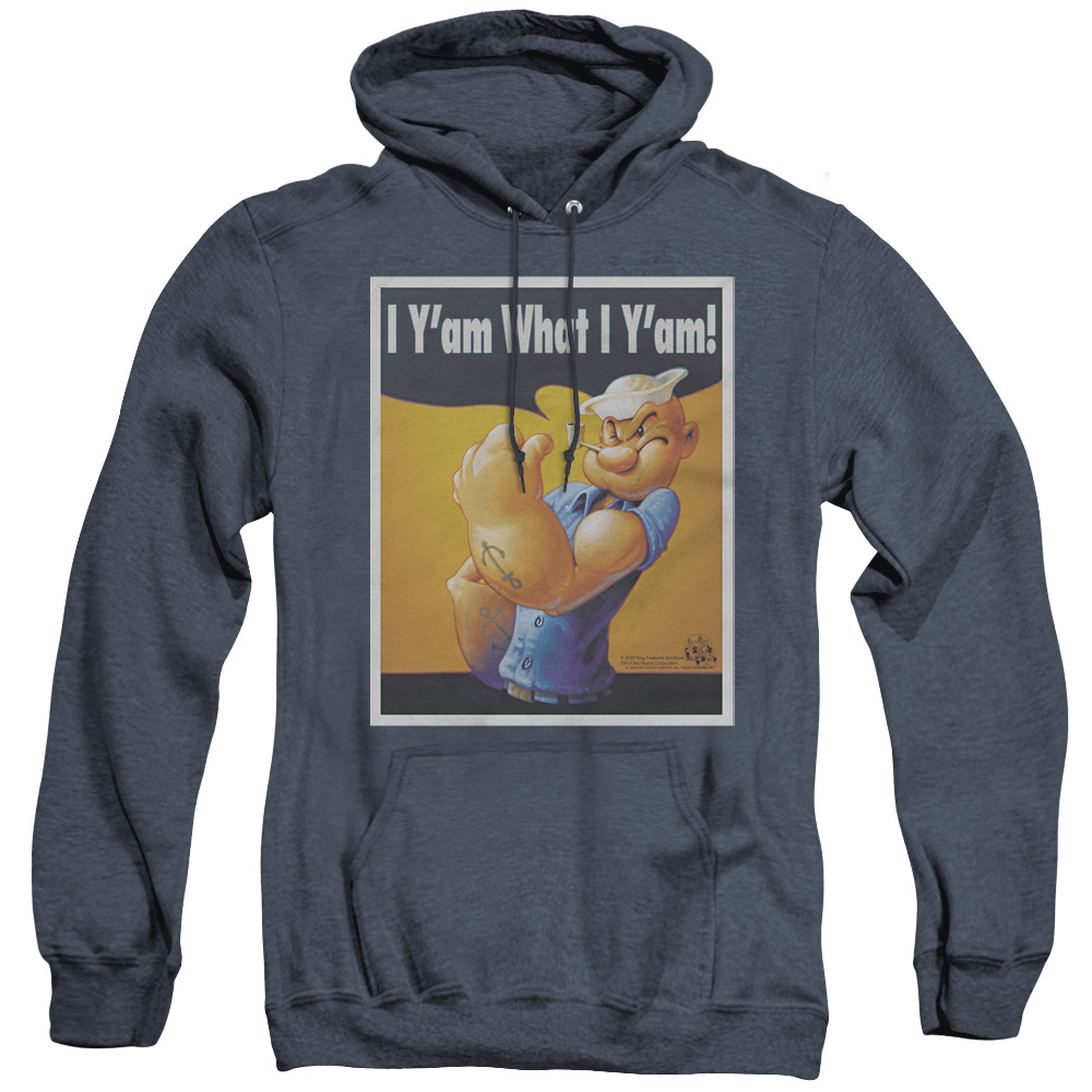 Popeye I Can Do It Adult Heather Hoodie