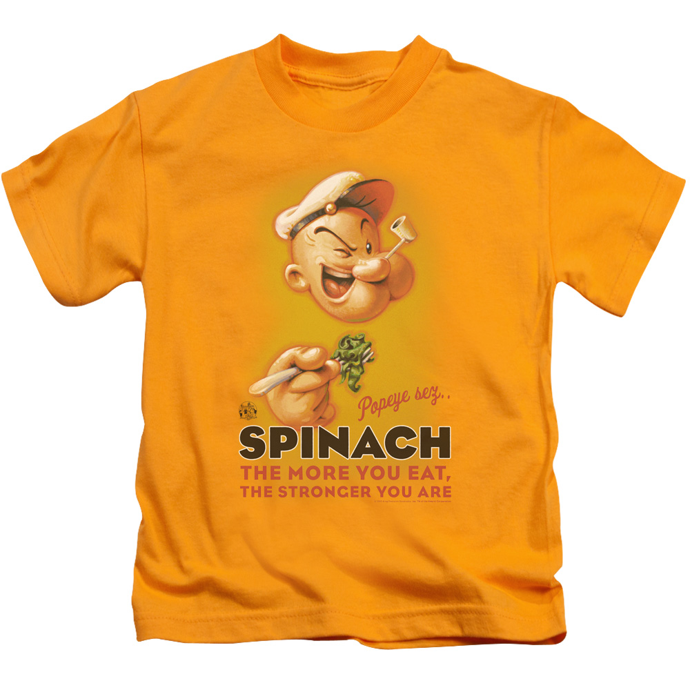 Popeye Spinach Retro Juvy T-Shirt
