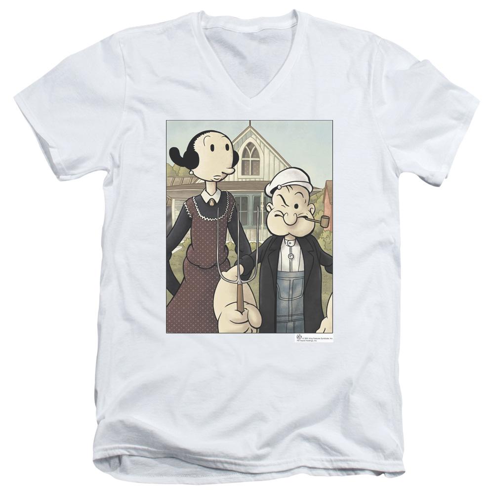 Popeye Gothic V-Neck T-Shirt