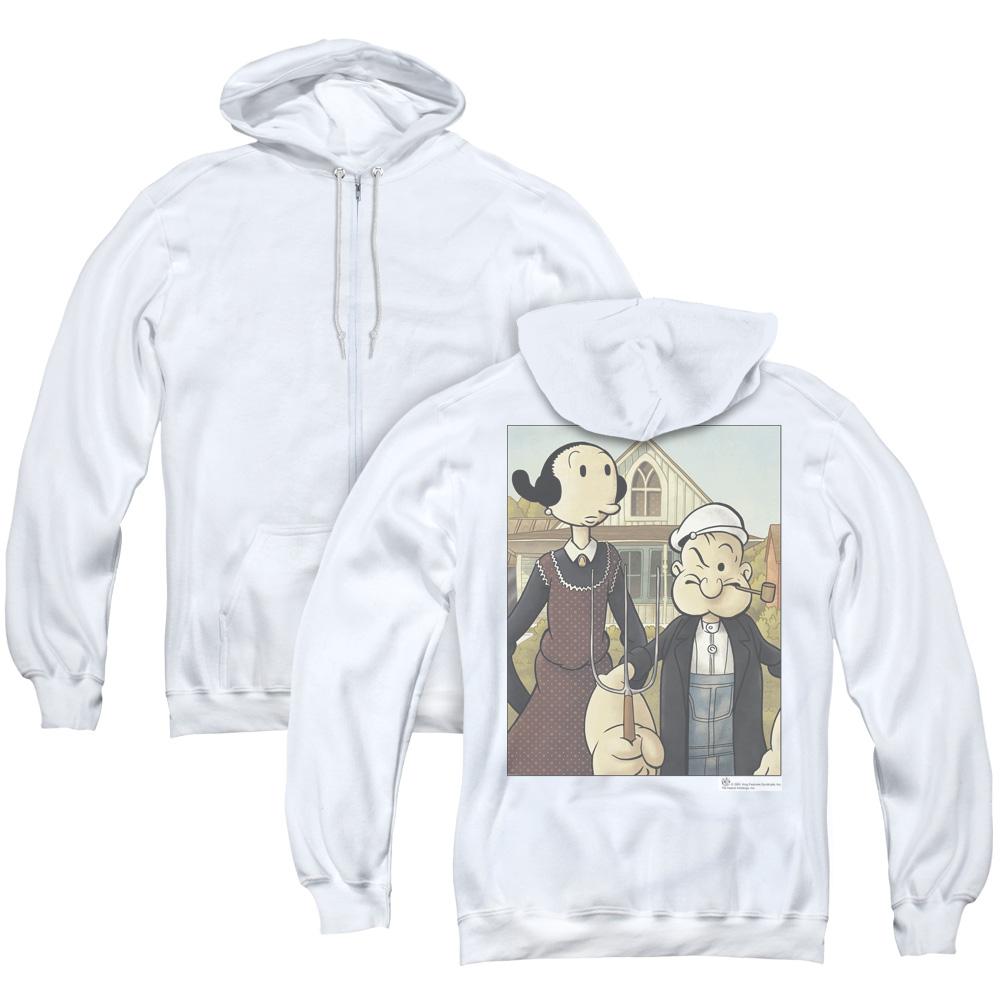 Popeye Gothic Adult Zip Hoodie