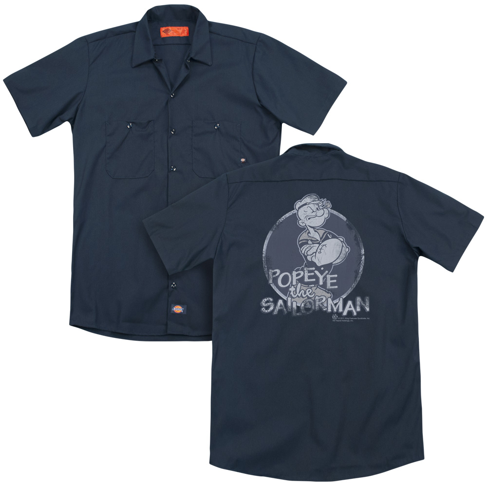 Popeye Original Sailor Man Work Button Up Shirt