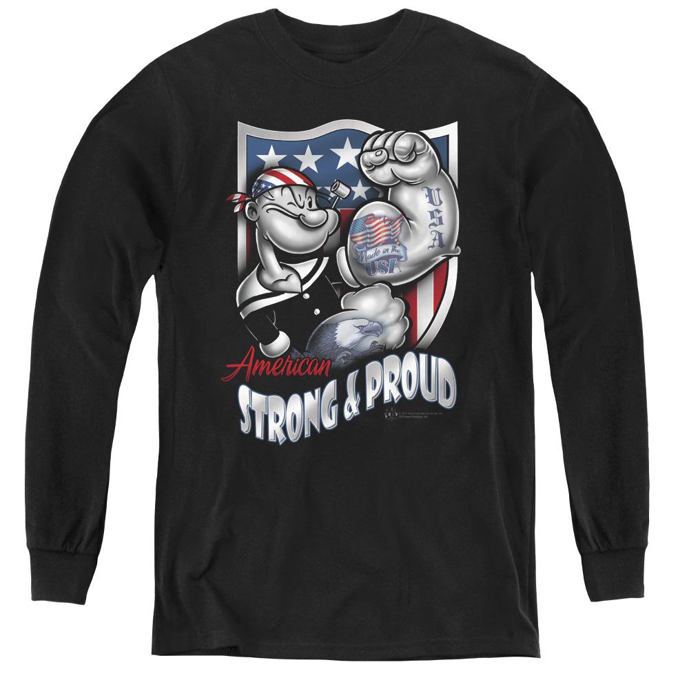 Popeye Strong & Proud Kids Long Sleeve Shirt