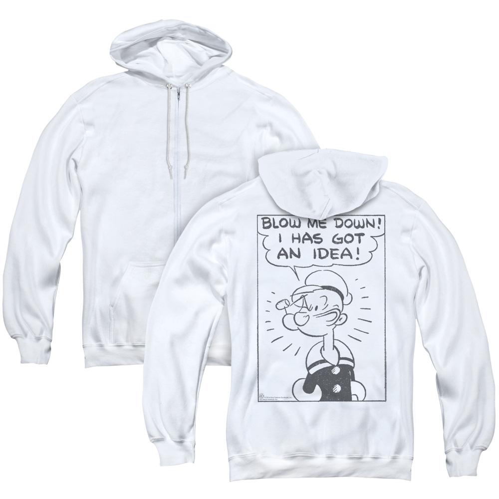 Popeye An Idea Adult Zip Hoodie